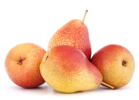 Ripe pear fruit isolated on white background cutout Stock Photo - 25000782