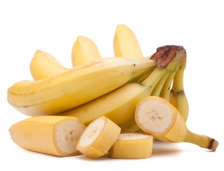 Banany bunch odizolowane na białym tle