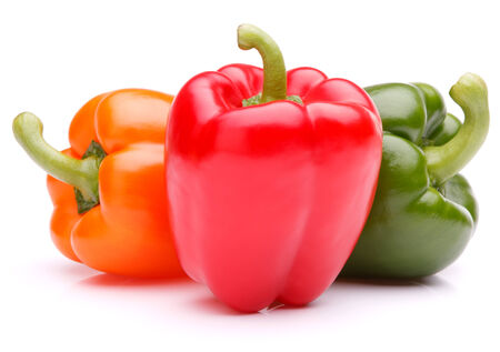 peper: Sweet bell pepper isolated on white background cutout