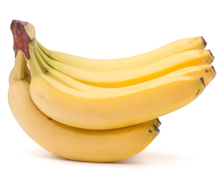 Bananas bunch isolated on white background cutout photo