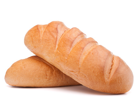 fresh bread isolated on white background cutout photo