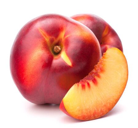 Nectarine fruit isolated on white background cutout photo