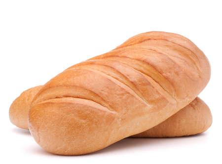 fresh bread isolated on white background  photo