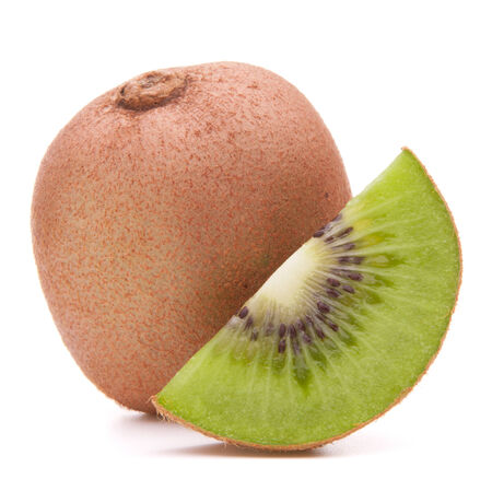 segment: Sliced kiwi fruit segment  isolated