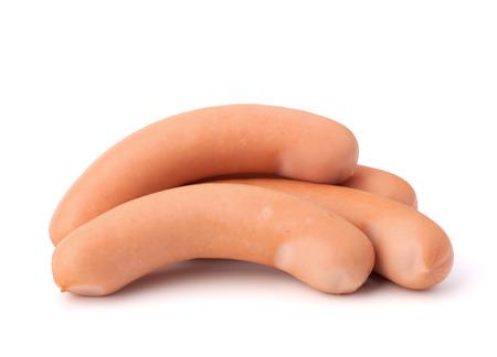 weenie: Frankfurter sausage isolated on white background