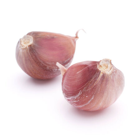 Garlic clove isolated on white background cutout photo