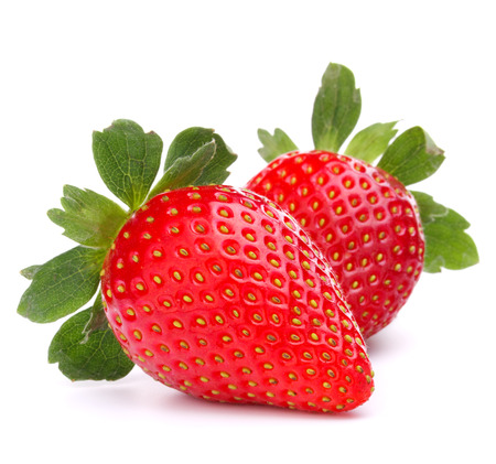 bacca: Strawberry isolated on white background cutout