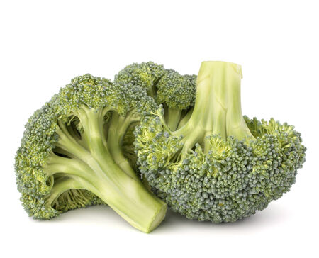 Broccoli vegetable isolated on white background photo