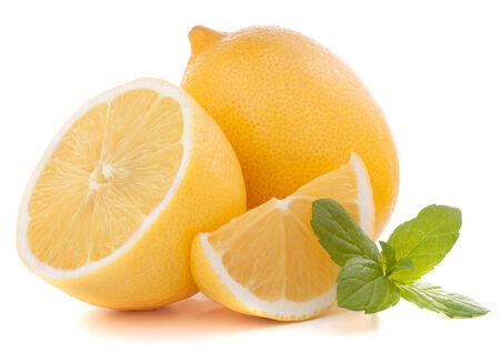 Lemon or citron citrus fruit isolated on white background  版權商用圖片