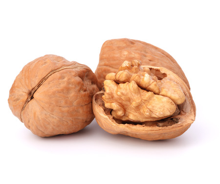 Walnut isolated on white background photo