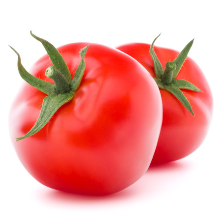 Tomato vegetable isolated on white background cutout photo