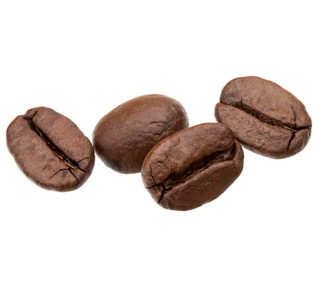 cofe: roasted coffee beans isolated in white background cutout