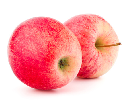 Red apple isolated on white background cutout Stock Photo