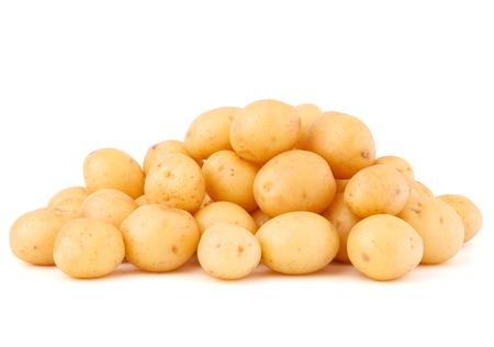 patatas: nuevo papa aislados en el fondo blanco del recorte