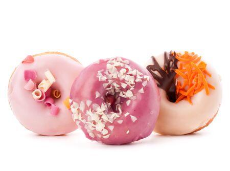 doughnut or donut isolated on white background cutout photo