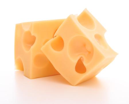 kaas op een witte achtergrond knipsel