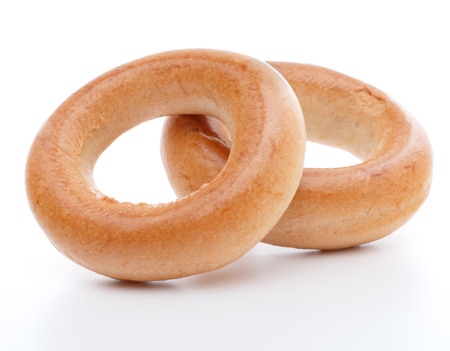 baranka: bread ring or baranka  isolated on white background cutout Stock Photo