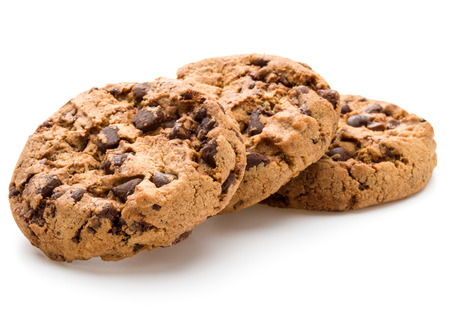 Chocolate cookies isolated on white background cutout Banque d'images