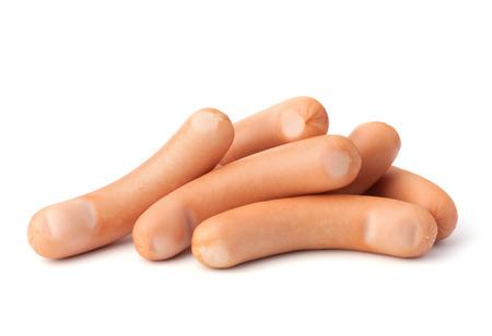 wienie: Frankfurter sausage isolated on white background