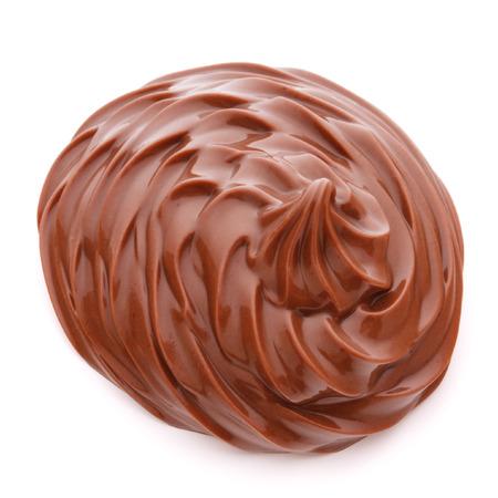 single whip: Chocolate cream swirl isolated on white background cutout