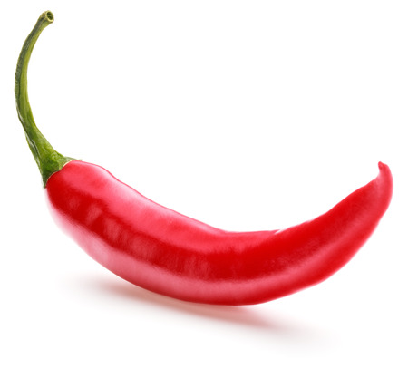 chilli: red chili or chilli cayenne pepper isolated on white  background cutout