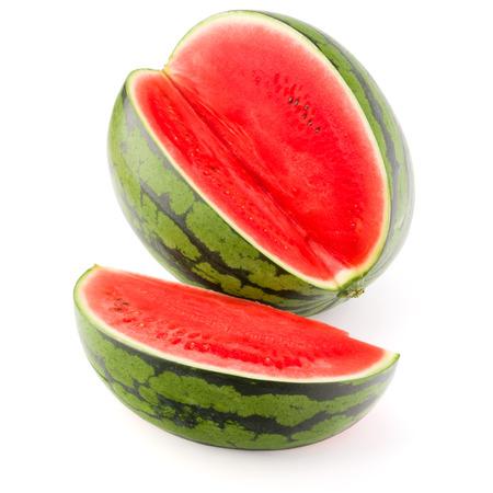 Sweet watermelon isolated on white background photo