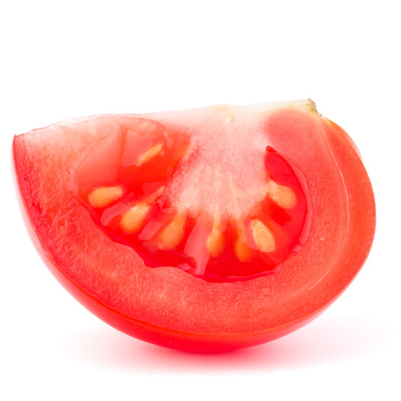 cantle: Tomato vegetable slice isolated on white background cutout
