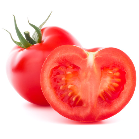 Tomatoes vegetable isolated on white background photo