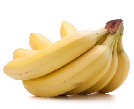 Bananas bunch isolated on white background photo