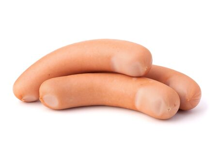 wienie: Frankfurter sausages isolated on white background Stock Photo