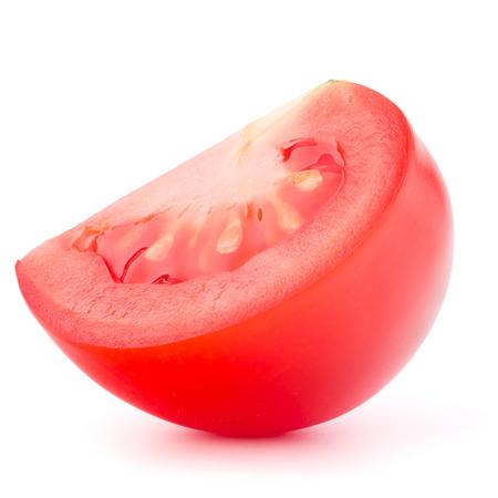 cantle: Tomato slice isolated on white background