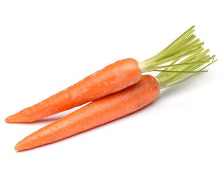 zanahorias: dulce vegetal zanahoria aislada en el fondo blanco del recorte Foto de archivo