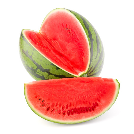 watermelon juice: Sweet watermelon isolated on white background cutout