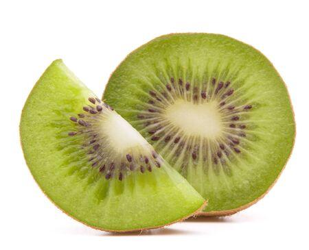 kiwi: Sliced kiwi fruit segment  isolated on white background cutout