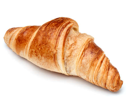 crescent: Croissant or  crescent roll isolated on white background cutout Stock Photo