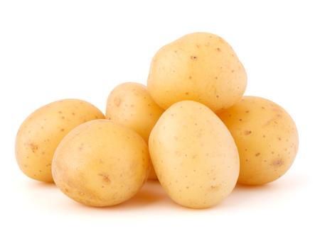 batata: patatas aisladas sobre fondo blanco