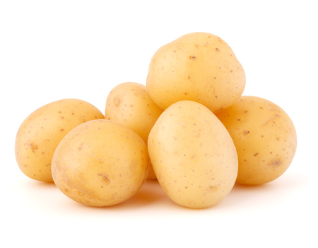 potatoes isolated on white background Imagens