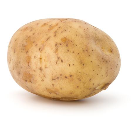 흰색 배경에 고립 된 새로운 감자 괴경