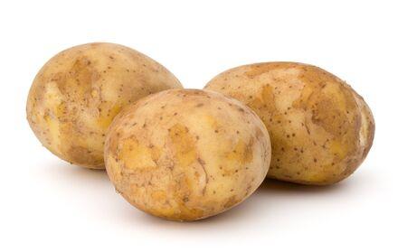 russet: new potato tuber isolated on white background