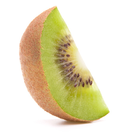 segmento: Sliced kiwi fruit segment  isolated on white background cutout