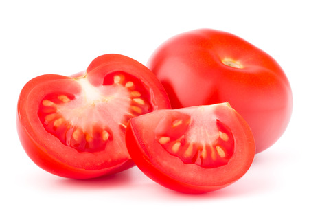 cantle: Tomato vegetable isolated on white background cutout Stock Photo