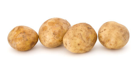 russet: new potato tuber isolated on white background cutout