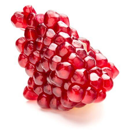 segmento: Ripe pomegranate fruit segment isolated on white background cutout
