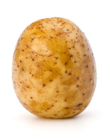 russet potato: new potato tuber isolated on white background