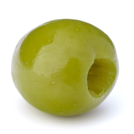 olive green: Green olive fruit isolated on white background
