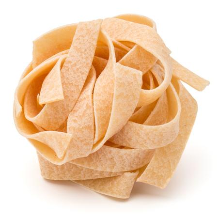 medium group of object: Italian pasta fettuccine nest isolated on white background