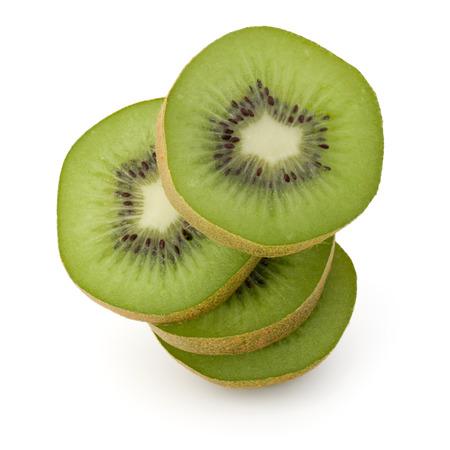 kiwi: sliced Kiwi fruit isolated on white background cutout