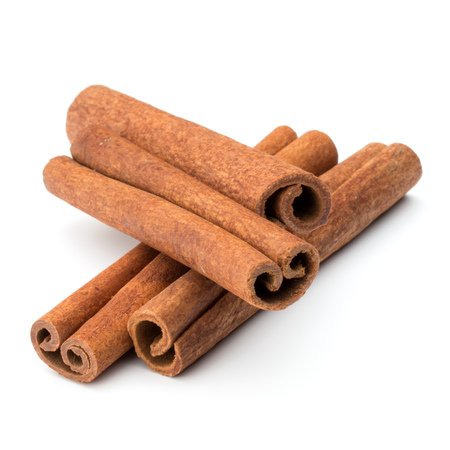 spice isolated: cinnamon stick spice isolated on white background closeup Stock Photo