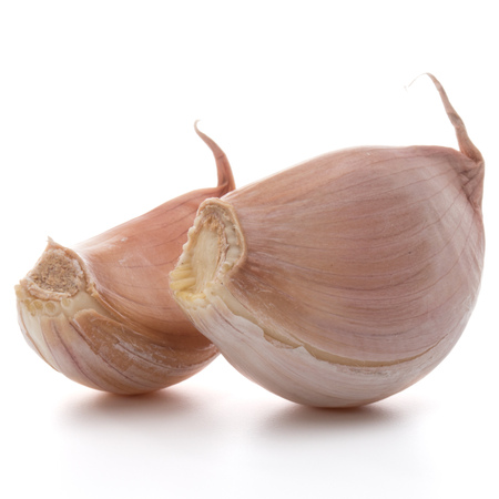 clove: Garlic clove isolated on white background cutout