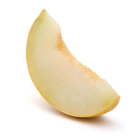 Cantaloupe: melon slice isolated on white background cutout